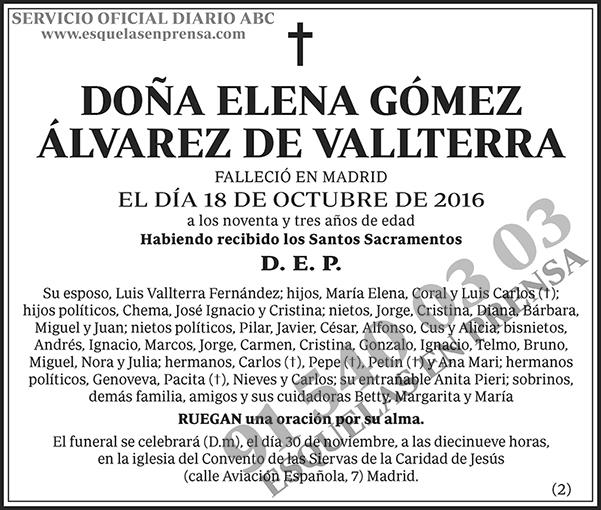 Elena Gómez Álvarez de Vallterra